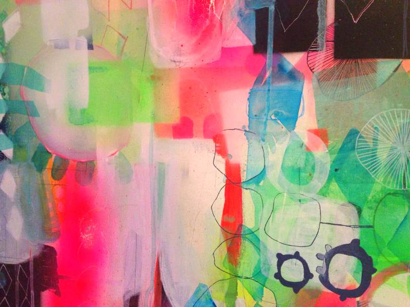 maleri neon farver