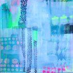 Abstrakt maleri med farver