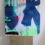 Moderne maleri i lyse farver