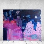 Abstrakt maleri af Mette Lindberg