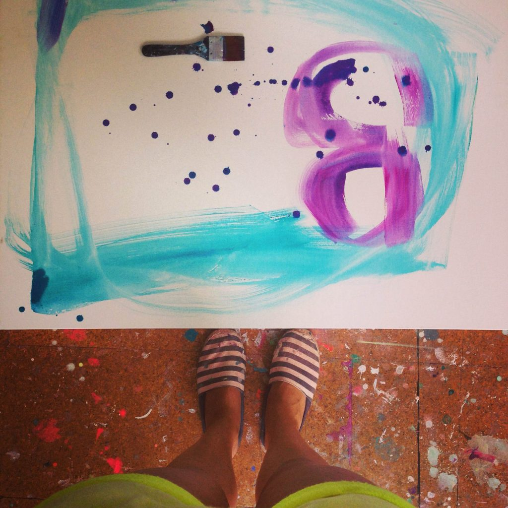 maleri med neonfarver