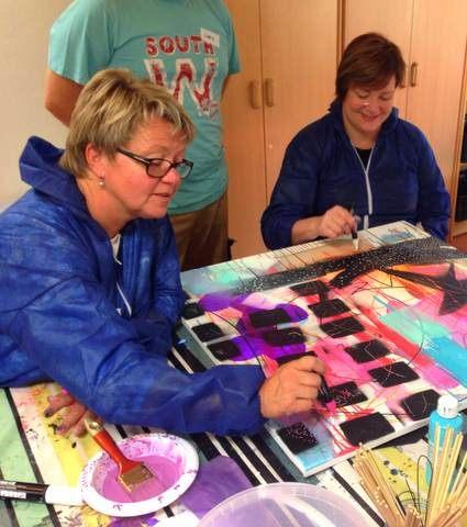 Male workshop med kunstner Mette Lindberg