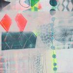 Maleri med pastel og neon