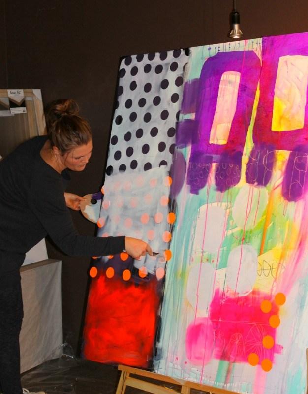 lær at male abstrakt maleri