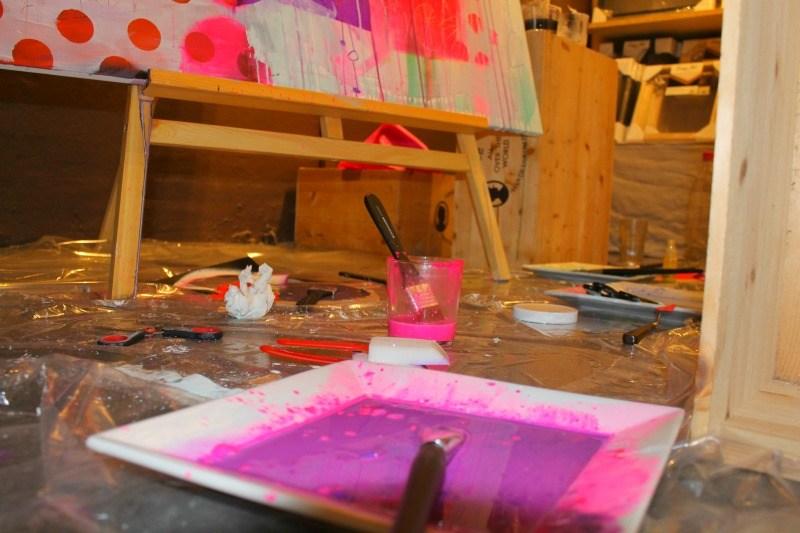 Lær at male akrylmaleri med kunstner mette Lindberg