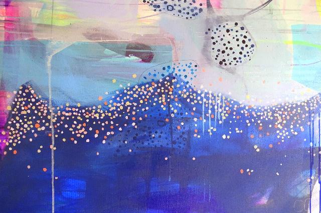 farverigt maleri, abstrakt maleri