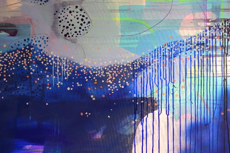 Moderne blå maleri