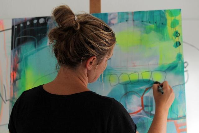 Malerier af Mette Lindberg