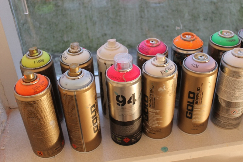 Brug disse spraymaling til dit maleri