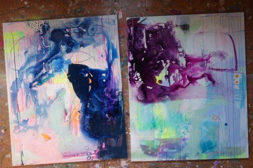 Farverige malerier undervejs