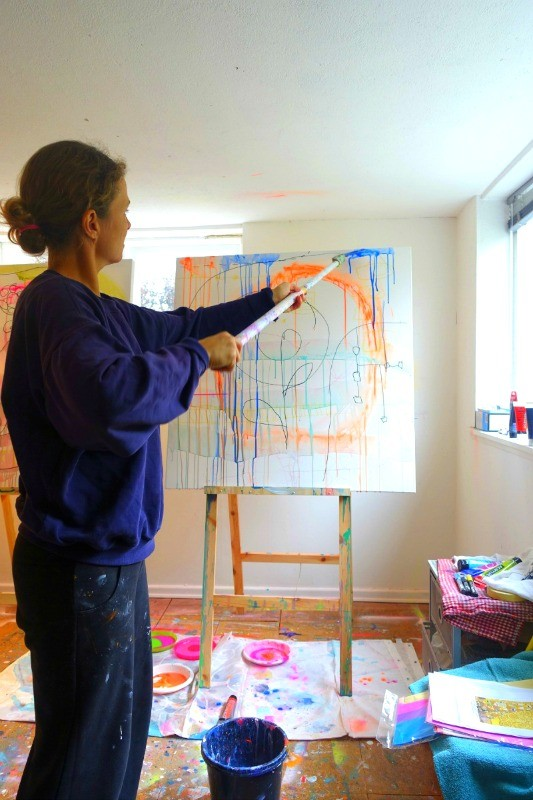 Da Sofie var til maleundervisning