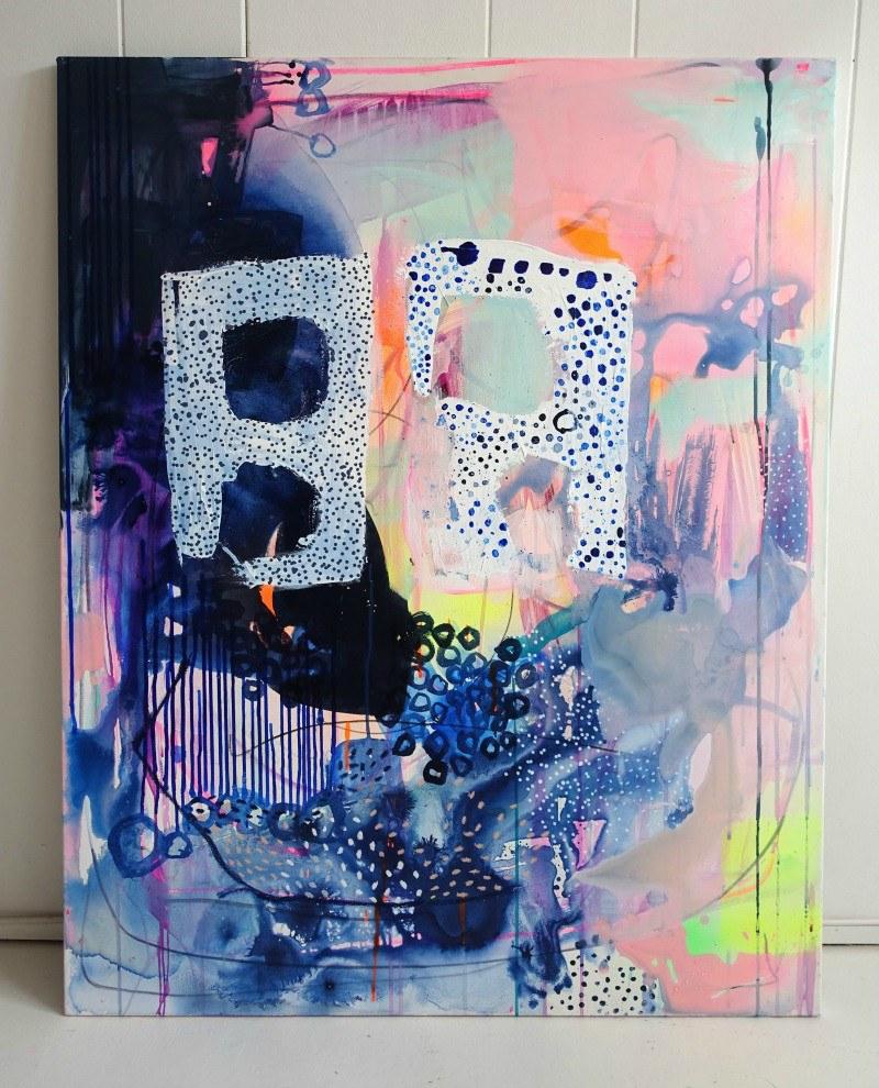 maleri abstrakt i moderne stil
