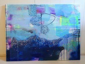 Tre af mine seneste abstrakte malerier i ny stil…