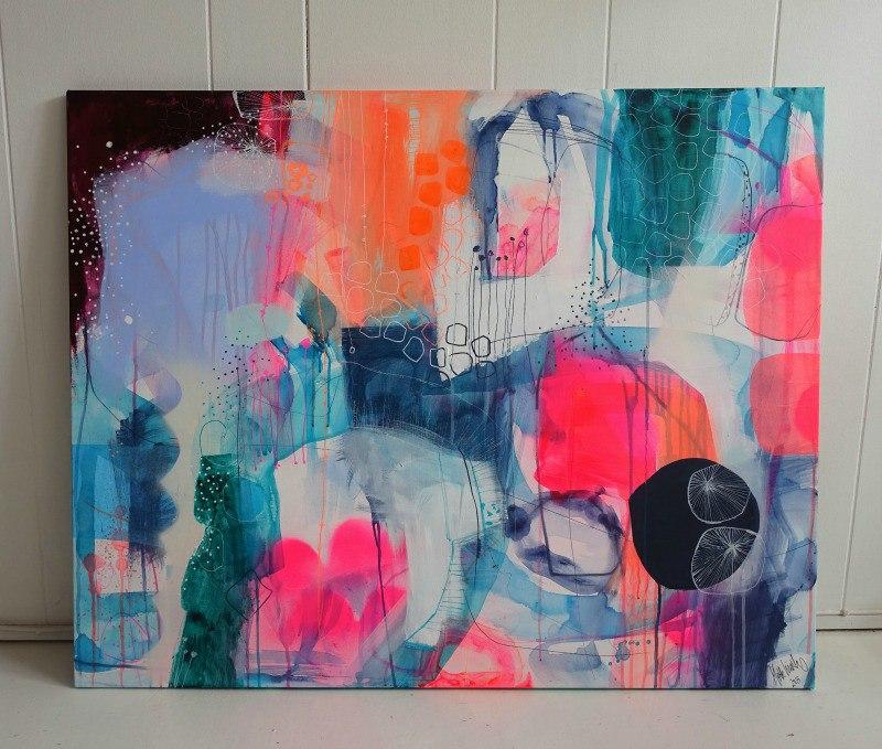 Et maleri med neon
