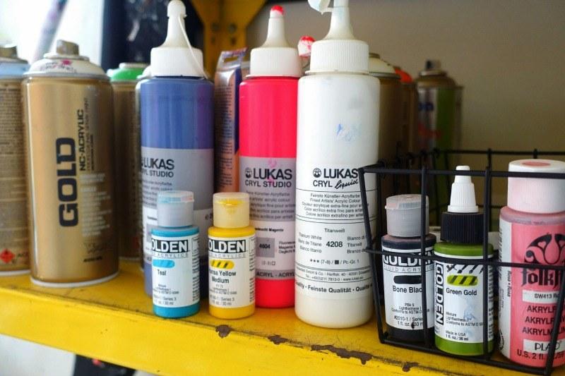 Lukas akrylmaling og golden akrylmaling
