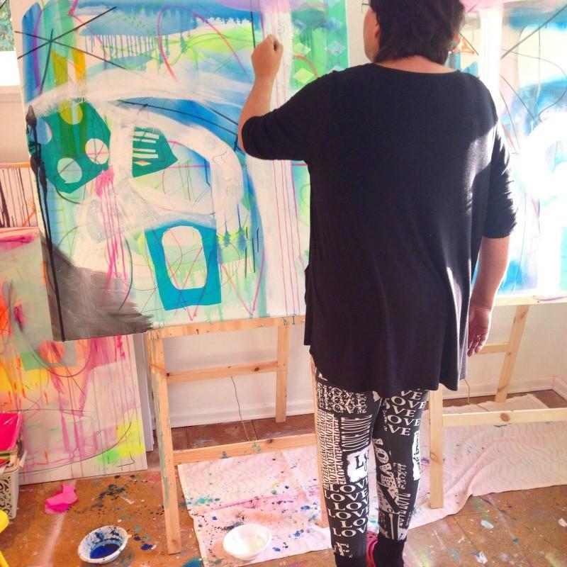 elev til undervisning i maleri