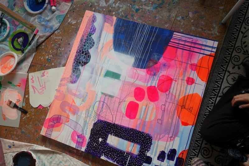 Kom til undervisning i akryl maleri i silkeborg