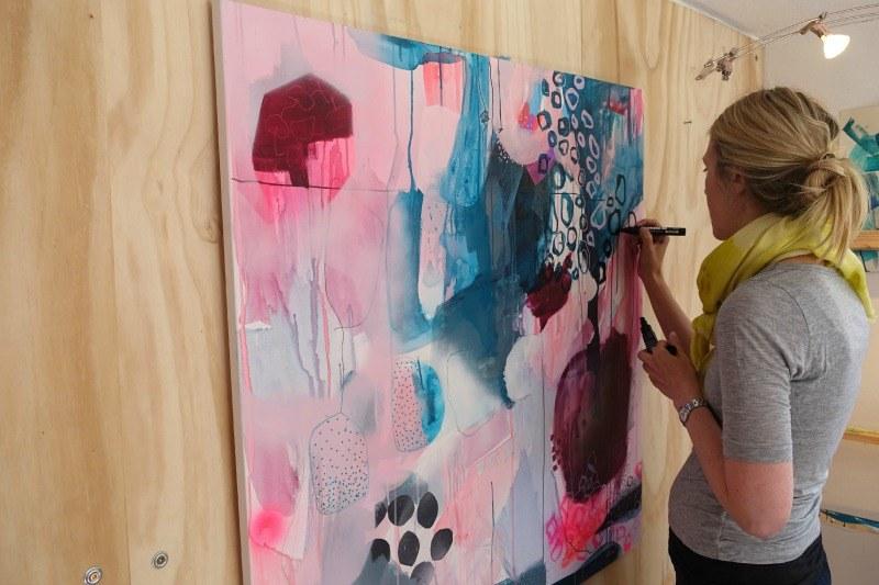 Kom til undervisning i maleri hos kunstner Mette Lindberg