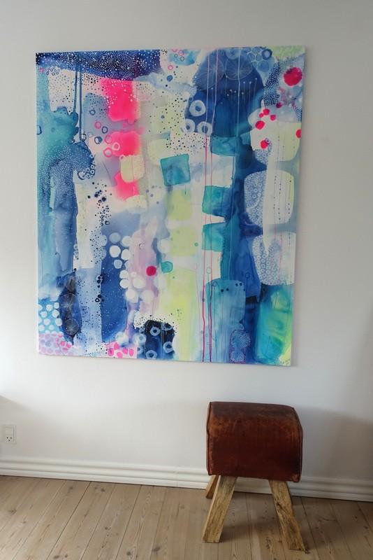 maleri med neonfaver