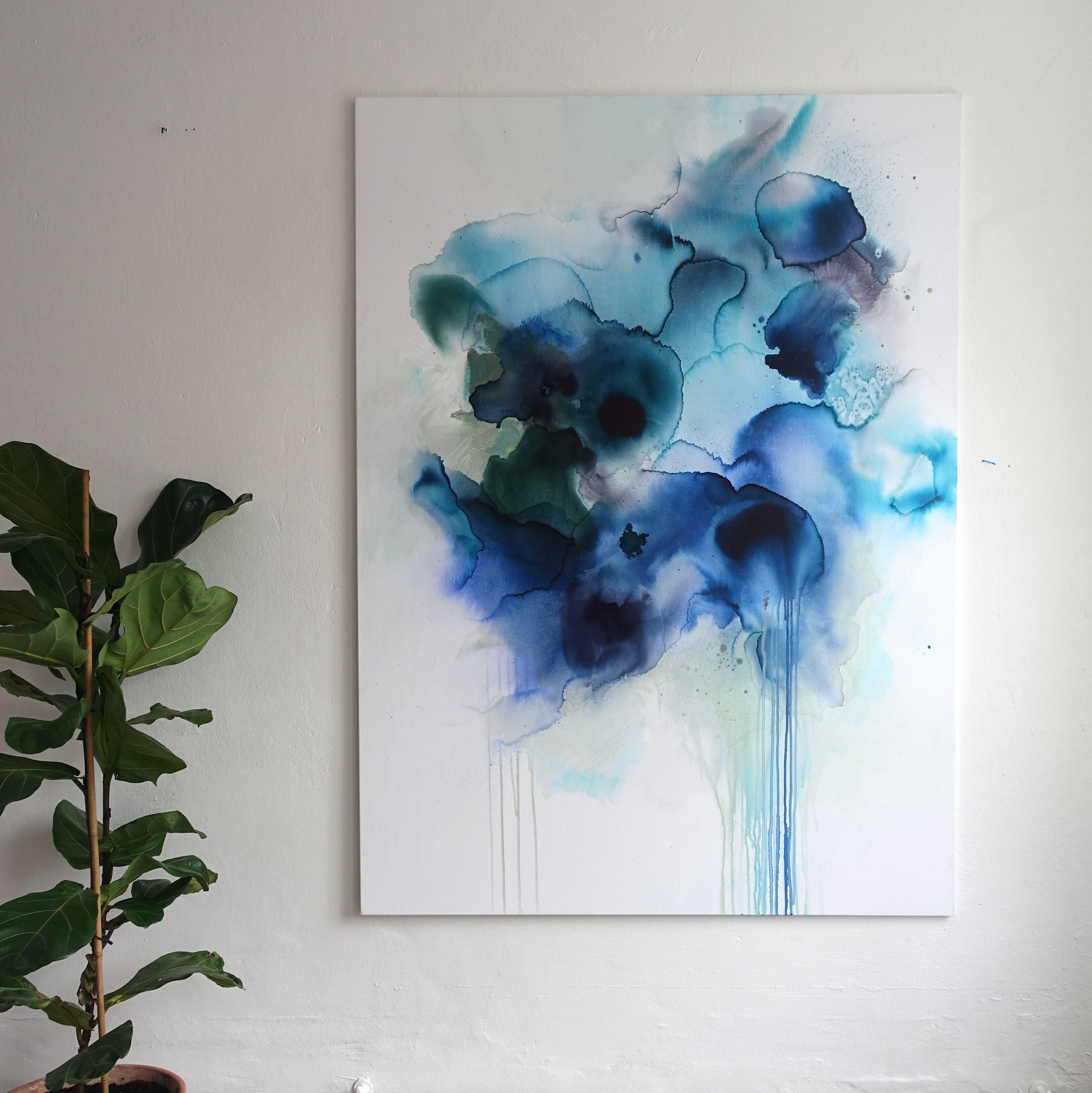 stort abstrakt maleri