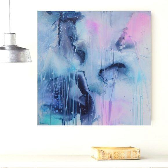 abstrakt maleri pastelfarver