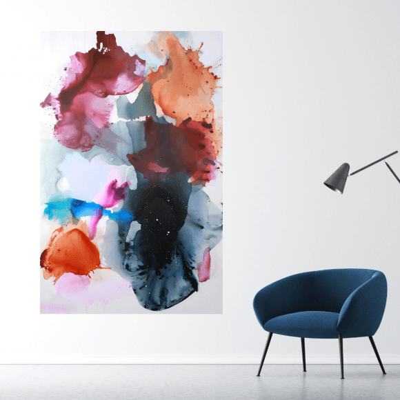 Stort farverigt maleri