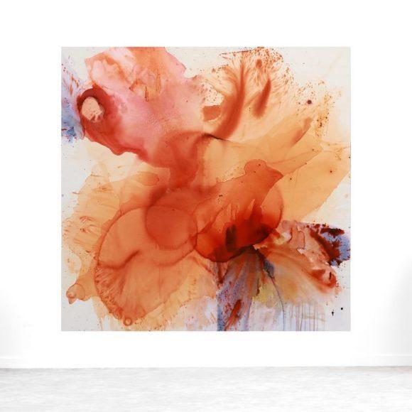 maleri braendte farver abstrakt
