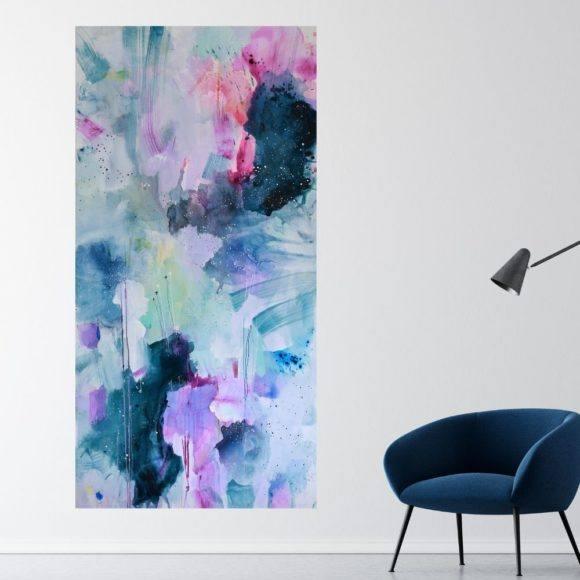 hoejt maleri til stuen